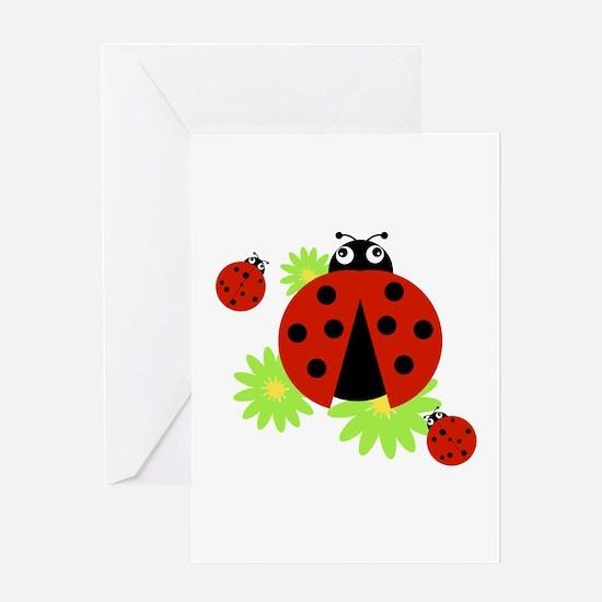 Ladybugs Greeting Cards