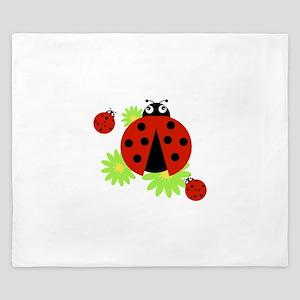 Ladybugs King Duvet