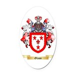 Glass Oval Car Magnet