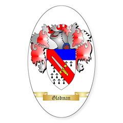 Gladman Sticker (Oval 50 pk)