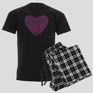 RunnerGirl Heart Men's Dark Pajamas