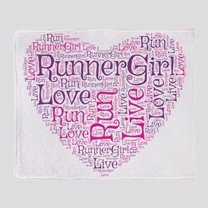 RunnerGirl Heart Throw Blanket