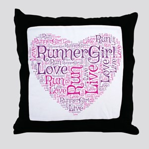 RunnerGirl Heart Throw Pillow