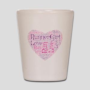 RunnerGirl Heart Shot Glass