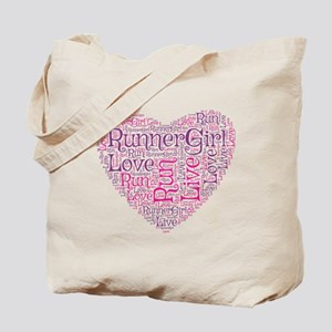 RunnerGirl Heart Tote Bag