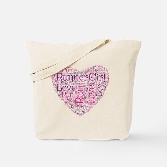 RunnerGirl Heart Tote Bag