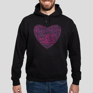 RunnerGirl Heart Hoodie (dark)