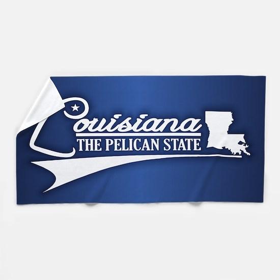 Louisiana State of Mine Beach Towel