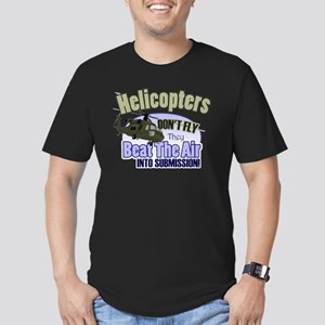 Helicopters Don't Fly Men's Fitted T-Shirt (dark)