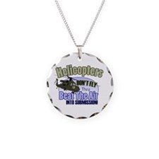 Helicopters Don't Fly Necklace Circle Charm