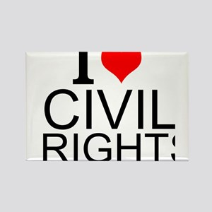 I Love Civil Rights Magnets