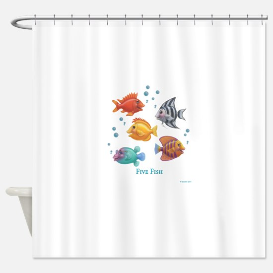 One Fish, Two Fish Shower Curtain