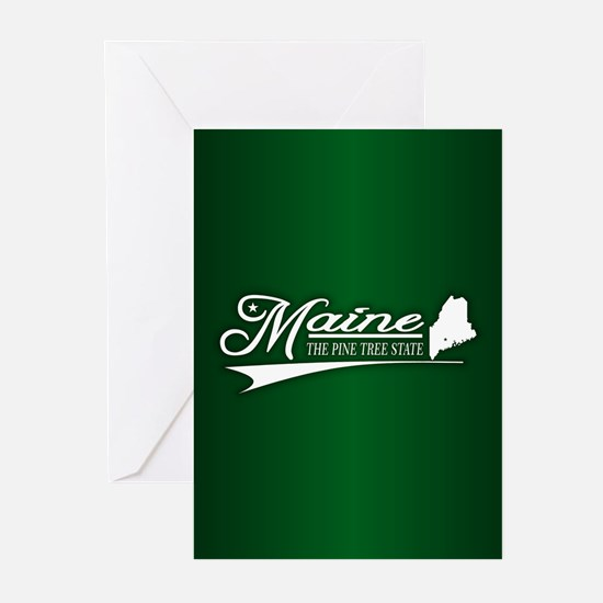 Maine State of Mine Greeting Cards