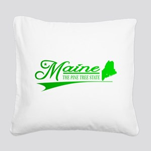 Maine State of Mine Square Canvas Pillow