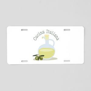 Cucina Italiana Aluminum License Plate