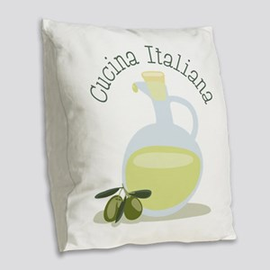 Cucina Italiana Burlap Throw Pillow