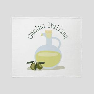 Cucina Italiana Throw Blanket