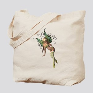 Green Wing Fairy Tote Bag