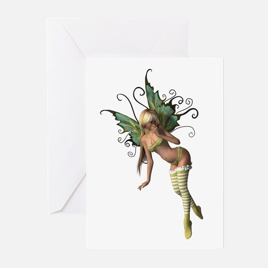 Green Wing Fairy Greeting Cards (Pk of 10)