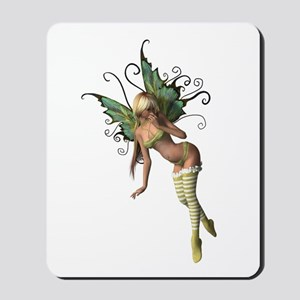 Green Wing Fairy Mousepad