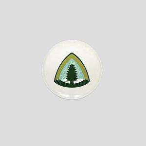 Camping Tree Mini Button