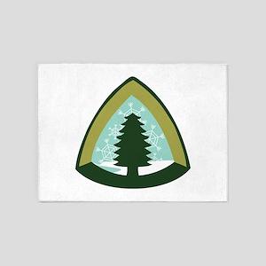 Camping Tree 5'x7'Area Rug