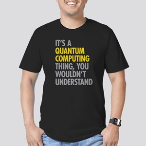 Quantum Computing Thin Men's Fitted T-Shirt (dark)