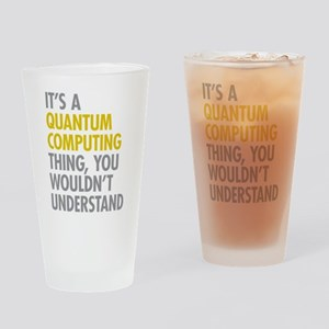 Quantum Computing Thing Drinking Glass