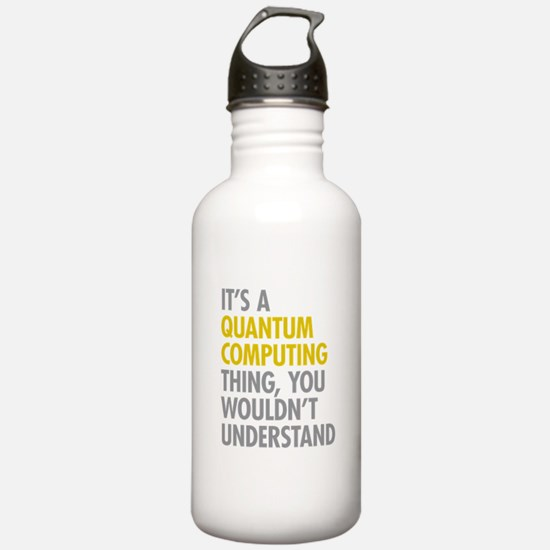 Quantum Computing Thin Sports Water Bottle