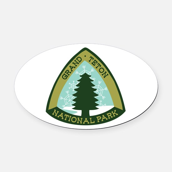 Grand Teton Oval Car Magnet