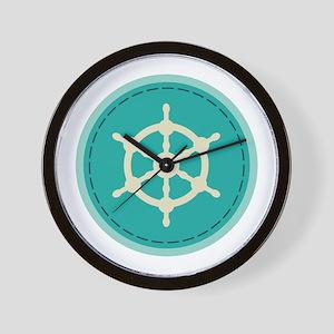 Boat Wheel Wall Clock