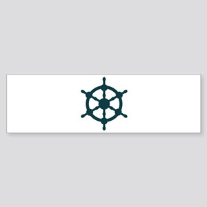 Ship Wheel Bumper Sticker