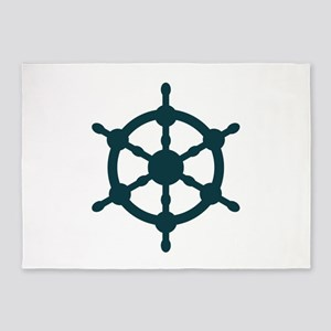 Ship Wheel 5'x7'Area Rug