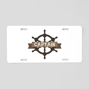 Captain Wheel Aluminum License Plate