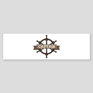 Captain Wheel Bumper Sticker