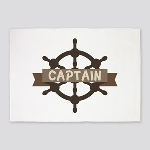 Captain Wheel 5'x7'Area Rug