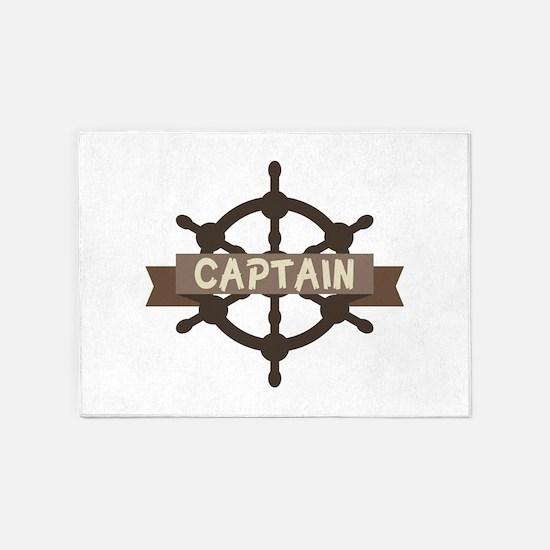 Captain Wheel 5'x7'Area Rug