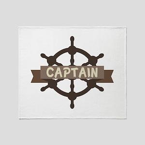 Captain Wheel Throw Blanket