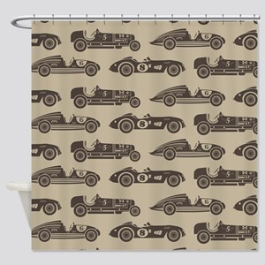 Vintage Race Car Shower Curtain