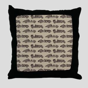 Vintage Race Car Throw Pillow