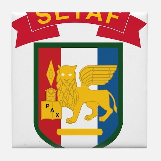 Southern European Task Force (SETAF). Tile Coaster
