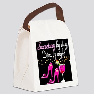 FOXY SECRETARY Canvas Lunch Bag