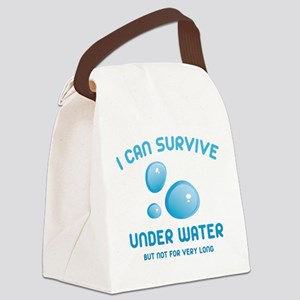 I Can Survive Under Water Canvas Lunch Bag