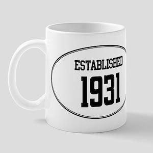Established 1931 Mug