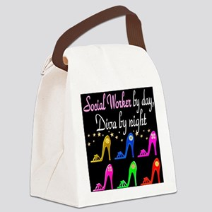 SOCIAL WORKER DIVA Canvas Lunch Bag