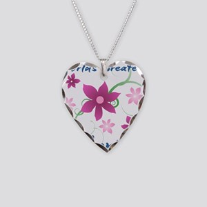 World's Greatest Aunt (Flower Necklace Heart Charm