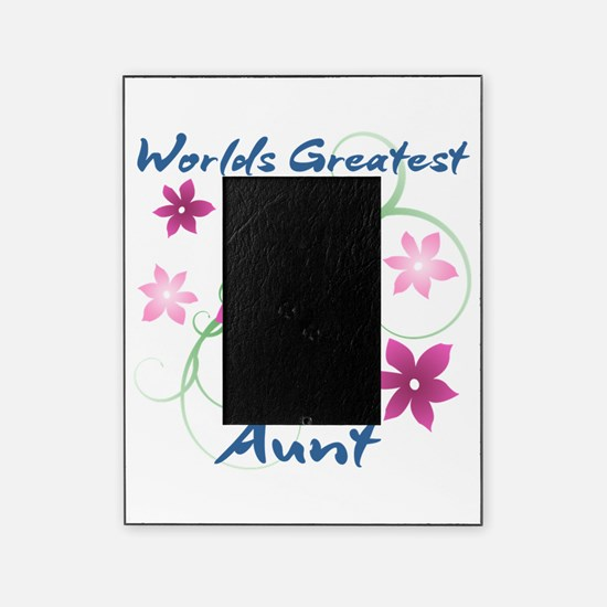 World's Greatest Aunt (Flowery) Picture Frame