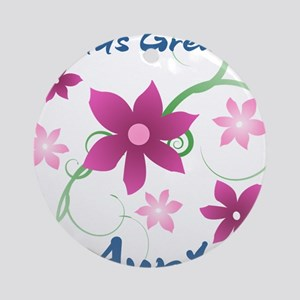 World's Greatest Aunt (Flowery) Ornament (Round)