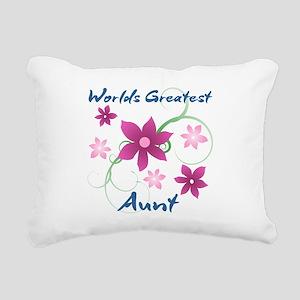 World's Greatest Aunt (F Rectangular Canvas Pillow