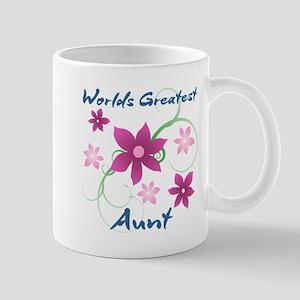 World's Greatest Aunt (Flowery) Mugs